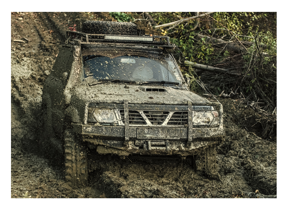 transportation fasteners used on off road truck in mud